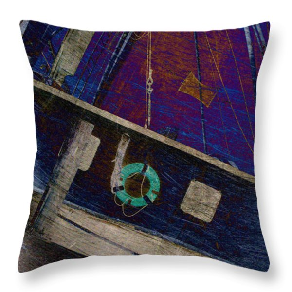 The Other Way to Go Throw Pillow by Susanne Van Hulst