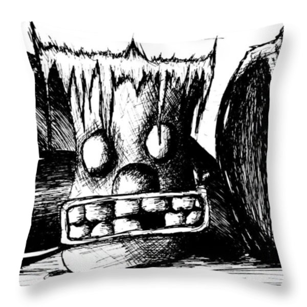The Outsider Throw Pillow by Jera Sky