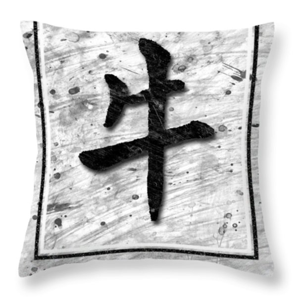The Ox Throw Pillow by Mauro Celotti