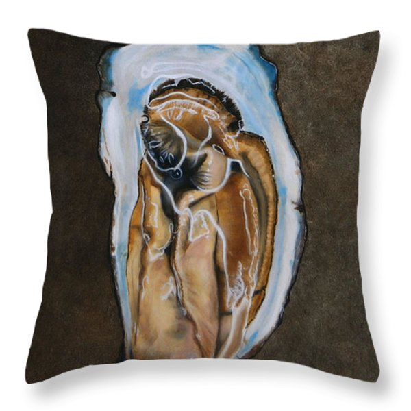 The Oyster Throw Pillow by Rob Dreyer AFC