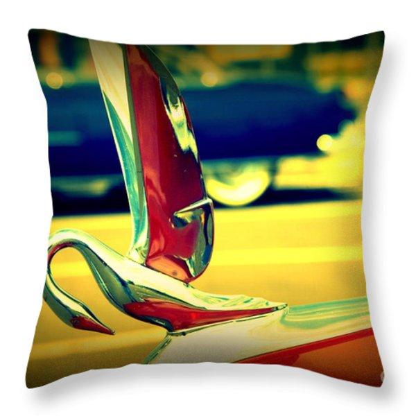 The Packard Swan Throw Pillow by Susanne Van Hulst