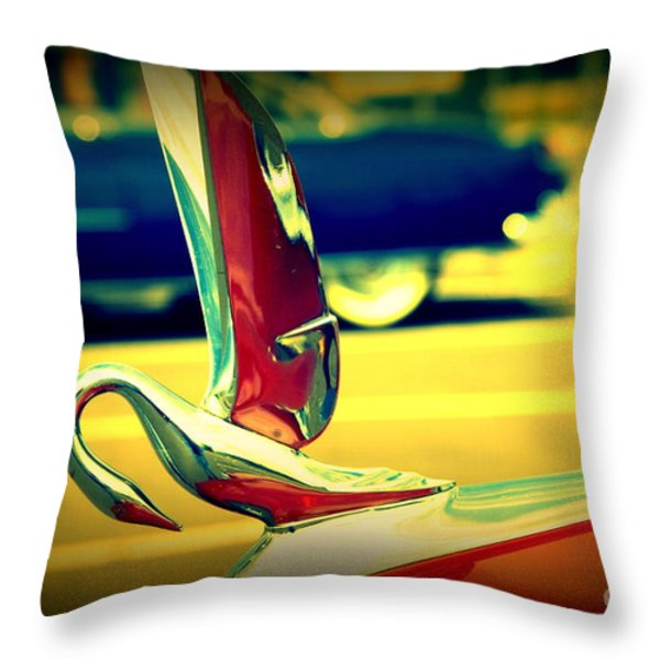 The Packard Swan Throw Pillow by Susanne Van Hulst