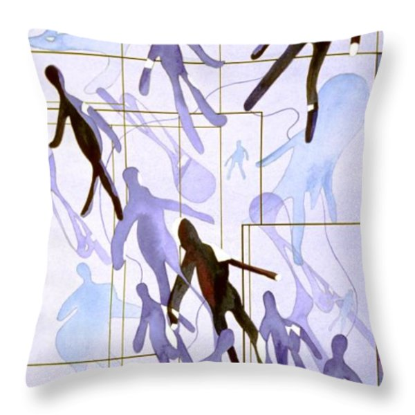 The Party Inclusion And Ostracism In A Symbolic Painting Throw Pillow by Phil Albone