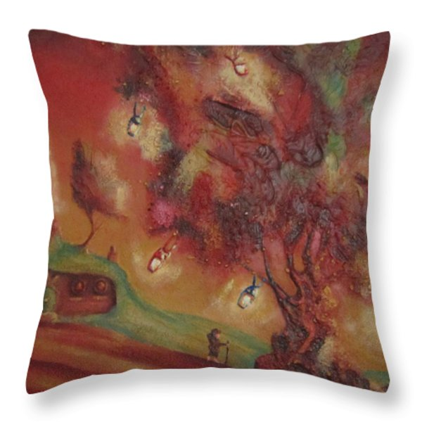 The Party Tree. Never To Be Seen Again. Throw Pillow by Joe  Gilronan