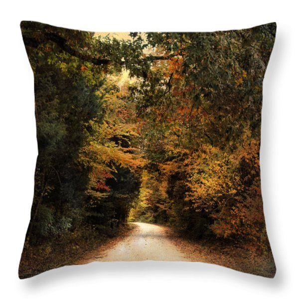 The Path Less Traveled Throw Pillow by Jai Johnson