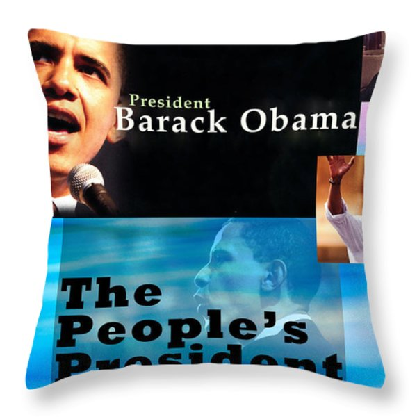 The People's President Throw Pillow by Terry Wallace
