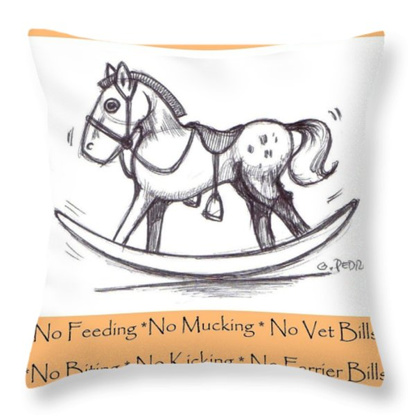 the Perfect Horse Throw Pillow by George Pedro