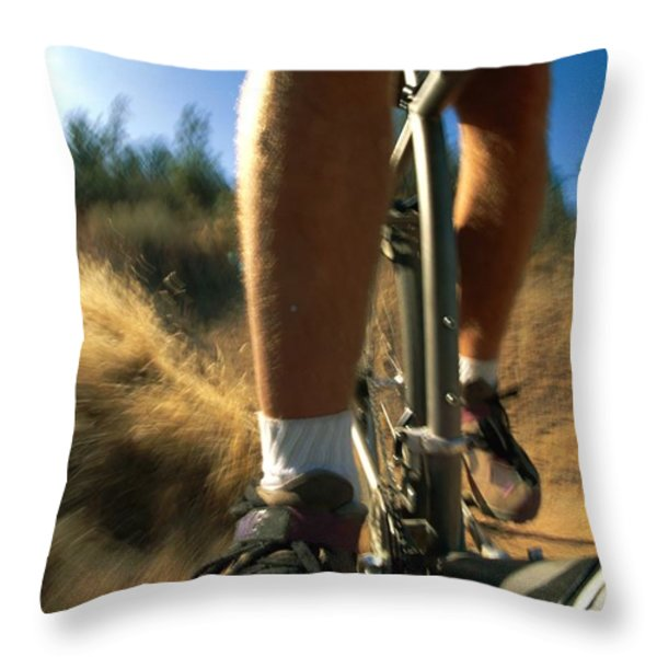 The Photographer Captures A Close View Throw Pillow by Barry Tessman