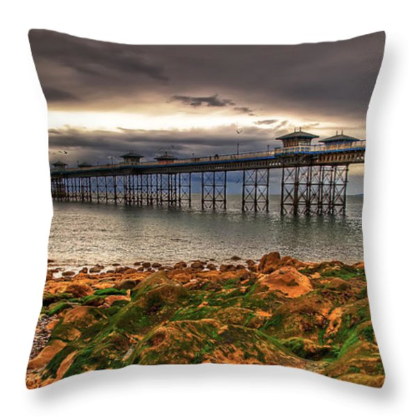 The Pier Throw Pillow by Adrian Evans