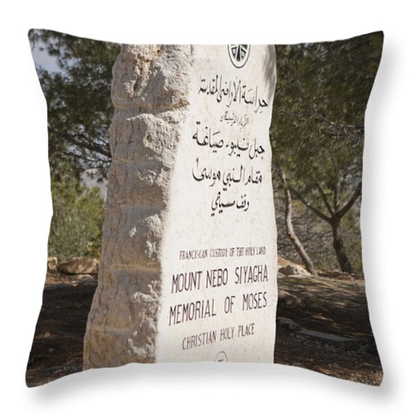 The Plaque Said To Commemorate Throw Pillow by Taylor S. Kennedy