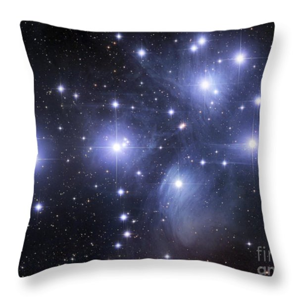 The Pleiades Throw Pillow by Robert Gendler