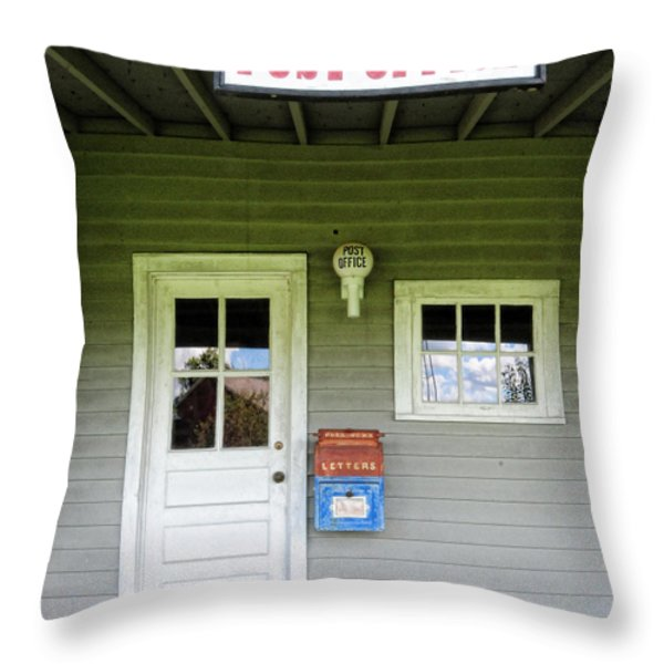 The Post Office Throw Pillow by Paul Ward