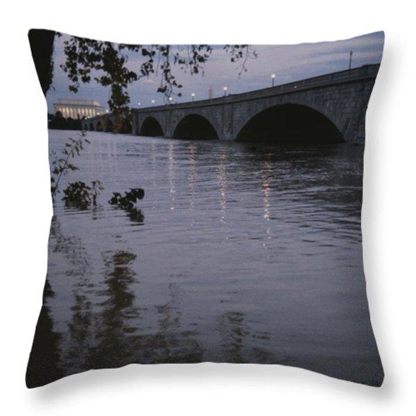 The Potomac Rivers Throw Pillow by Stephen St. John