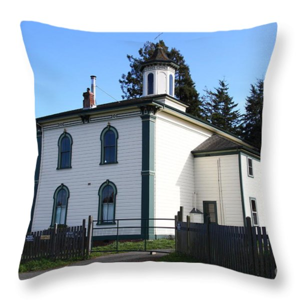 The Potter School House . Bodega Bay . Town Of Bodega . California . 7d12472 Throw Pillow by Wingsdomain Art and Photography
