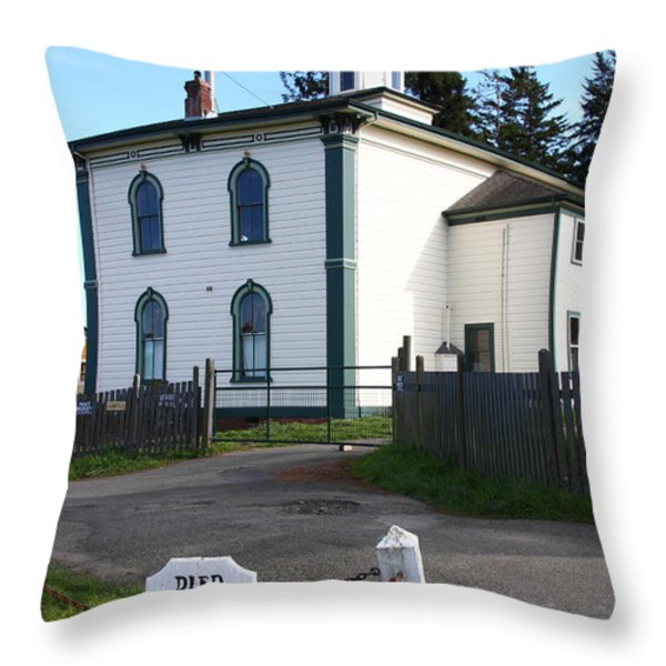 The Potter School House . Bodega Bay . Town of Bodega . California . 7D12473 Throw Pillow by Wingsdomain Art and Photography