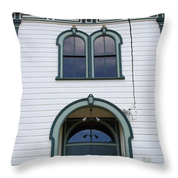 The Potter School House . Bodega Bay . Town of Bodega . California . 7D12480 Throw Pillow by Wingsdomain Art and Photography
