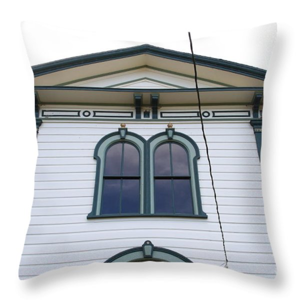 The Potter School House . Bodega Bay . Town of Bodega . California . 7D12482 Throw Pillow by Wingsdomain Art and Photography