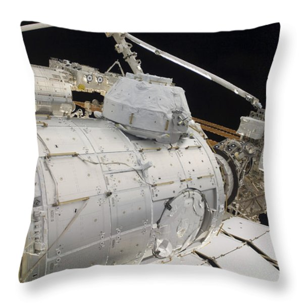 The Pressurized Mating Adapter 3 Throw Pillow by Stocktrek Images