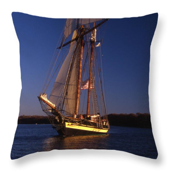 THE PRIDE II OF BALTIMORE Throw Pillow by Skip Willits