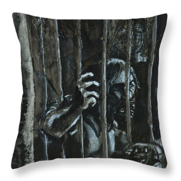 The Prisoner Throw Pillow by David Finley