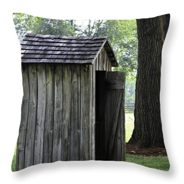 The Privy Throw Pillow by Teresa Mucha