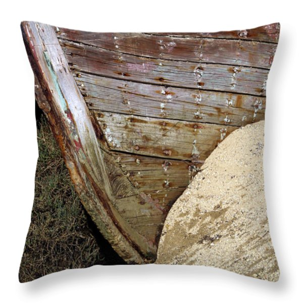 The Pt Reyes Abstract Throw Pillow by Bill Gallagher
