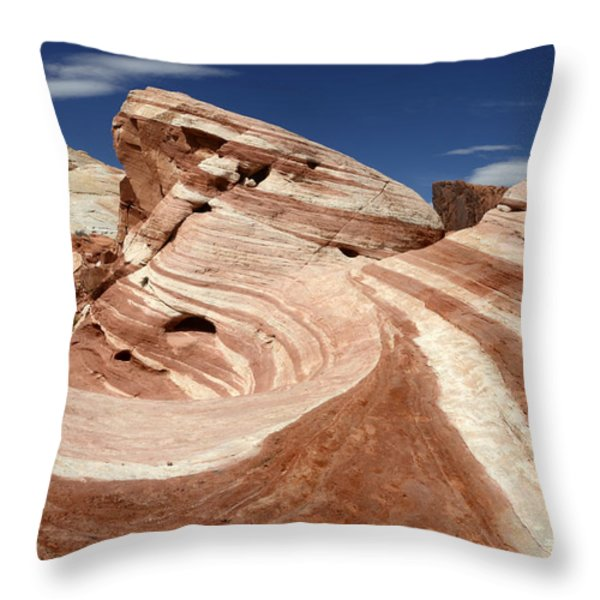 The Purple Wave Throw Pillow by Bob Christopher