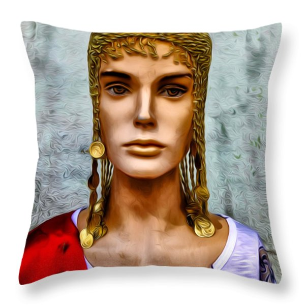 The Queen Of Bourbon Street Throw Pillow by Bill Cannon