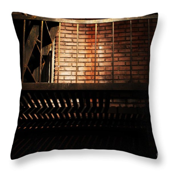 The Rear Window - 7D17463 Throw Pillow by Wingsdomain Art and Photography