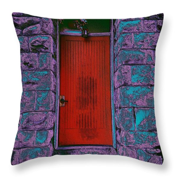 The Red Door Throw Pillow by Tim Allen