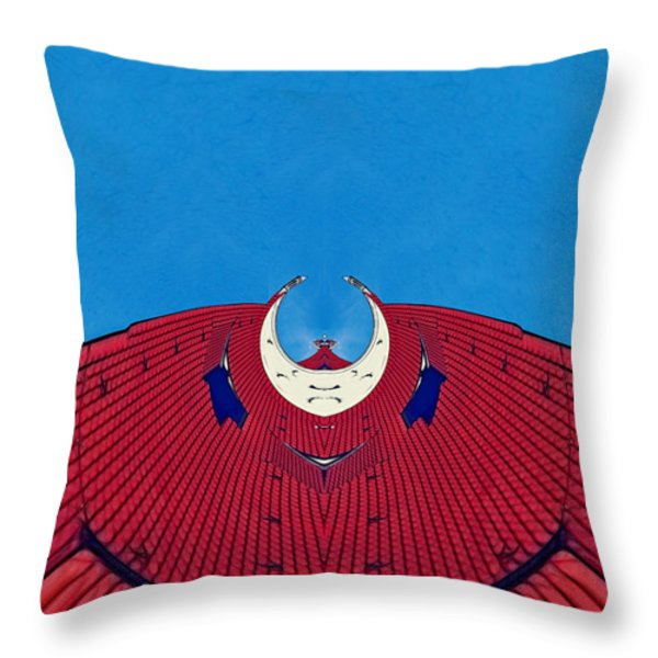 the red dress - Archifou 71 Throw Pillow by Aimelle