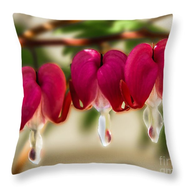 The Red Heart Throw Pillow by Robert Bales