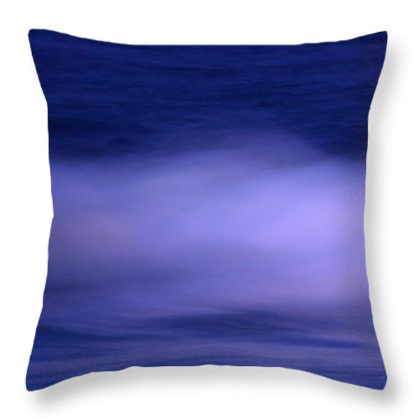 the red moon and the sea Throw Pillow by Hannes Cmarits