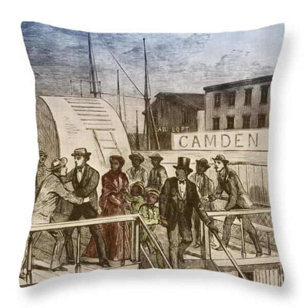 The Rescue Of Jane Johnson And Her Throw Pillow by Photo Researchers