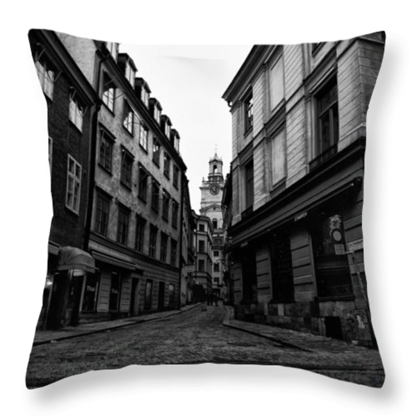 The Right Way Stockholm Throw Pillow by Stylianos Kleanthous