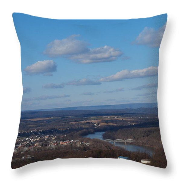 The River Below Throw Pillow by Robert Margetts