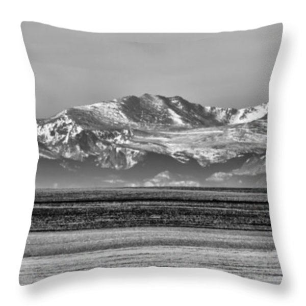 The Rockies Throw Pillow by Heather Applegate