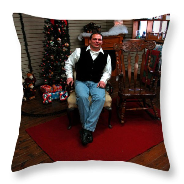 The Romeo Village Trading Post  Throw Pillow by LeeAnn McLaneGoetz McLaneGoetzStudioLLCcom