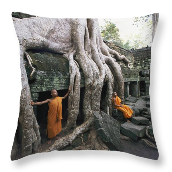 The Roots Of A Strangler Fig Creep Throw Pillow by Paul Chesley