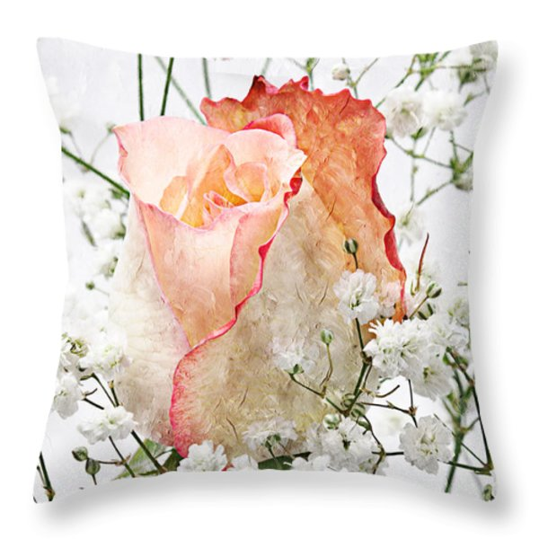 The Rose Throw Pillow by Andee Design