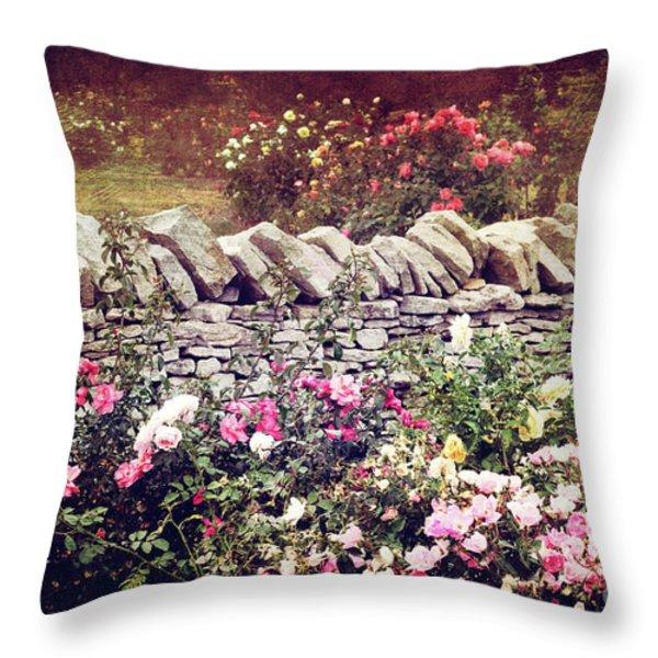 The Rose Garden Throw Pillow by Stephanie Frey