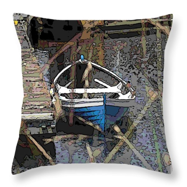 The Rowboat Throw Pillow by Tim Allen