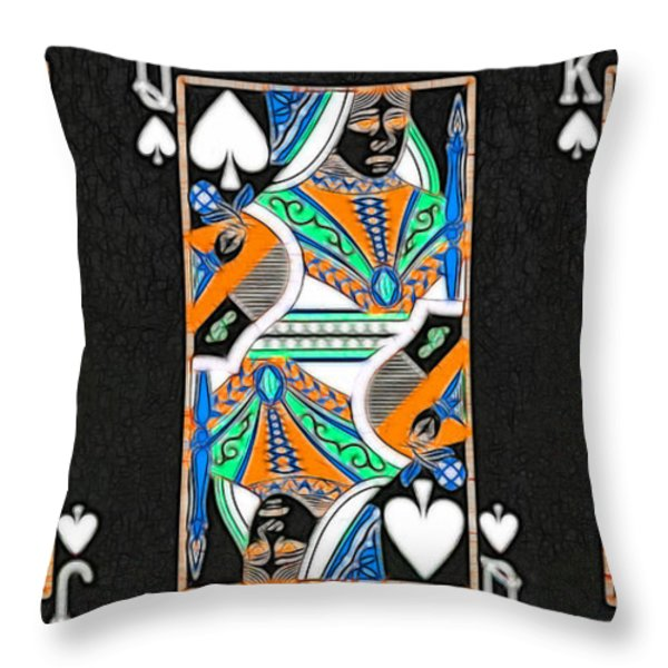 The Royal Spade Family Throw Pillow by Wingsdomain Art and Photography