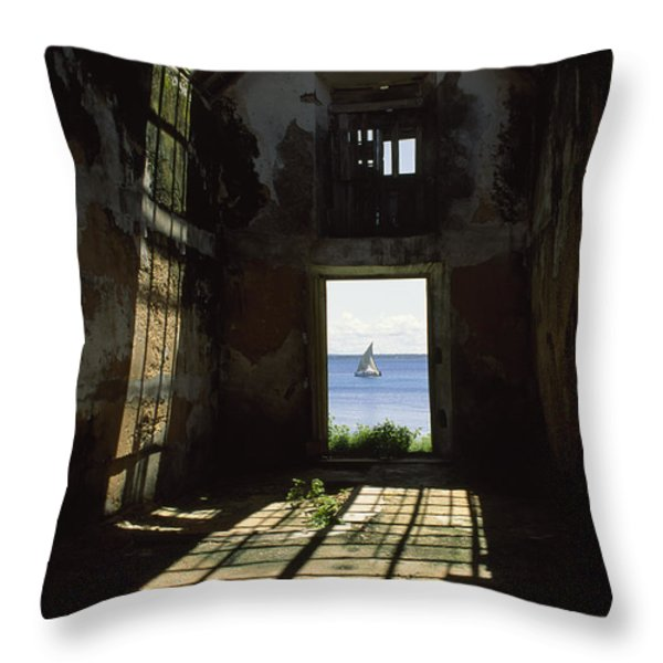 The Ruin Of A Slave Warehouse Dating Throw Pillow by James L. Stanfield