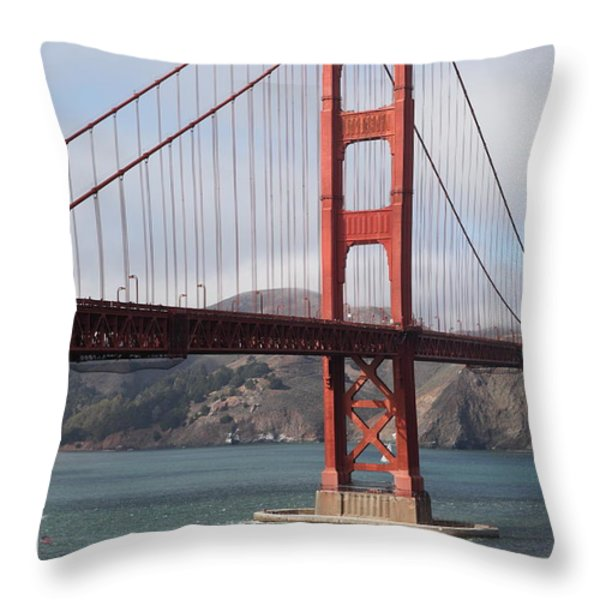The San Francisco Golden Gate Bridge - 5D18911 Throw Pillow by Wingsdomain Art and Photography