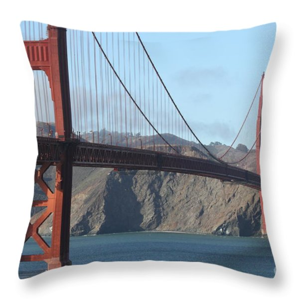 The San Francisco Golden Gate Bridge - 7d19184 Throw Pillow by Wingsdomain Art and Photography