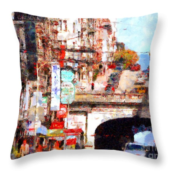 The San Francisco Stockton Street Tunnel . 7D7355 Throw Pillow by Wingsdomain Art and Photography