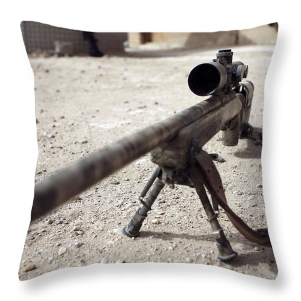 The Schmidt & Bender M-854155 Ds Scout Throw Pillow by Stocktrek Images