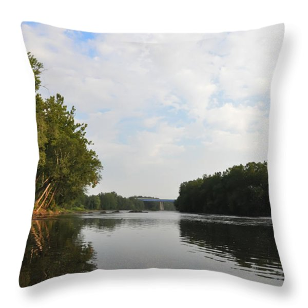The Schuylkill River at West Conshohocken Throw Pillow by Bill Cannon