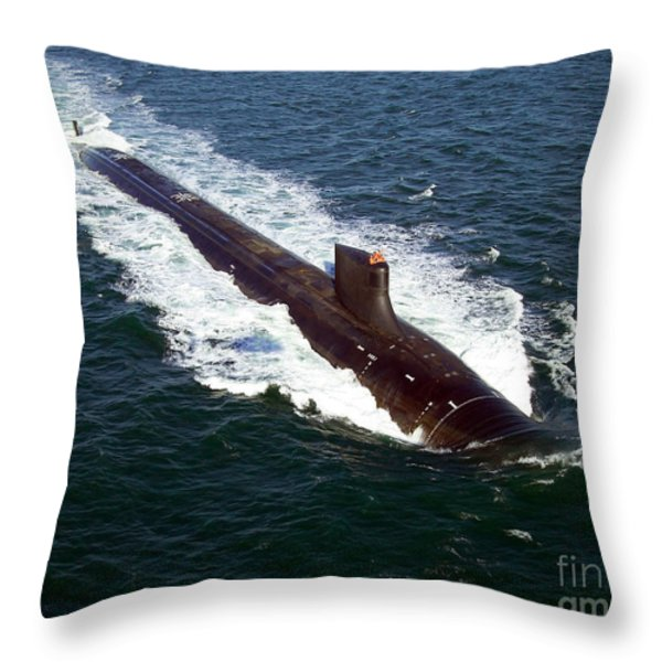 The Seawolf-class Nuclear-powered Throw Pillow by Stocktrek Images